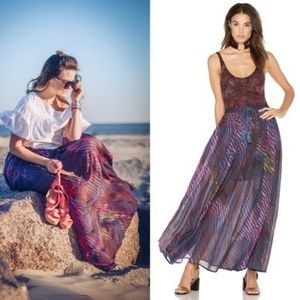 FP True To You Pattern Abstract Boho Maxi Skirt